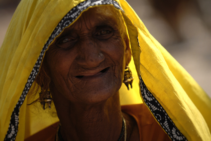 This picture of an Indian Gypsy woman portrayed in the town of Pushkar in Rajasthan, India is telling the story about the many Gypsy tribes in India. Read about the history of these Gypsy tribes in India in this archive story.