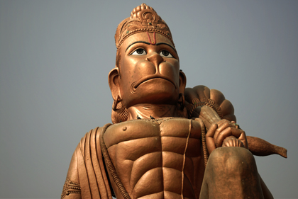 Hanuman Ji is worshiped by millions of devotees in India for his courage, bravery and strength. In this archive story we visit a temple in Haryana to learn more this monkey figure in Hinduism. Read more in this archive story.